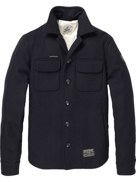Wool Shirt Jacket Men - Coat Nj