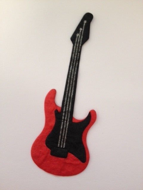 5 Electric Guitars Musical Instrument Card Making Scrapbook Craft Embellishments