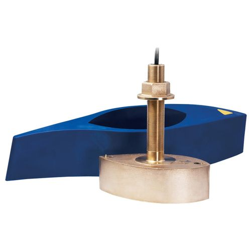 Furuno 526T-HDN Bronze Broadband Thru-Hull Transducer w/ Temp and Hi-Speed Fairing Block, 1kW (No Plug)