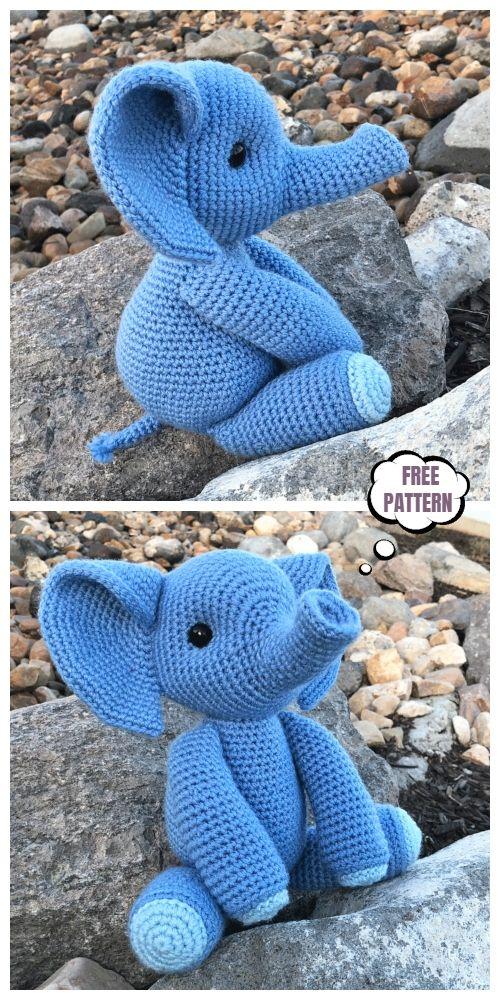 crochet elephant amigurumi - YouTube | 1000x500