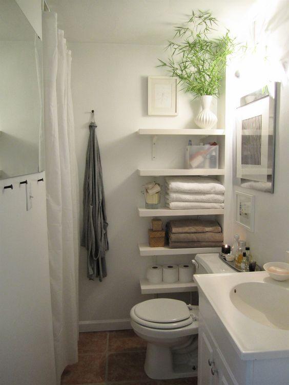 Estanterías Para Baños Pequenos:Cuartos de baños pequeños, Cuarto de baño and Estanterías on