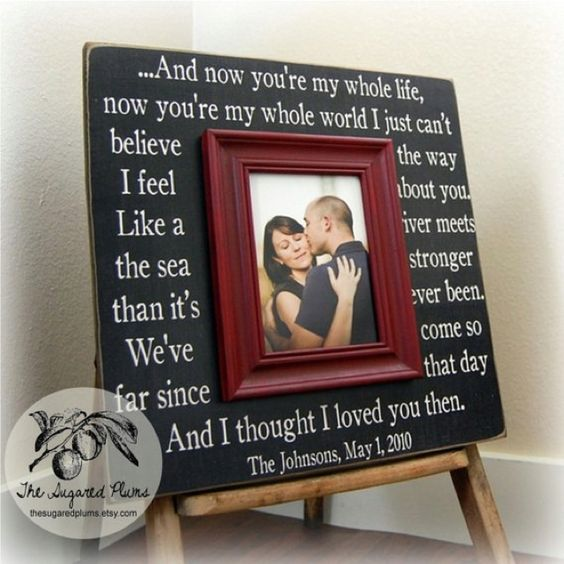 Wedding picture frame :) thanks Mommy & Daddy!