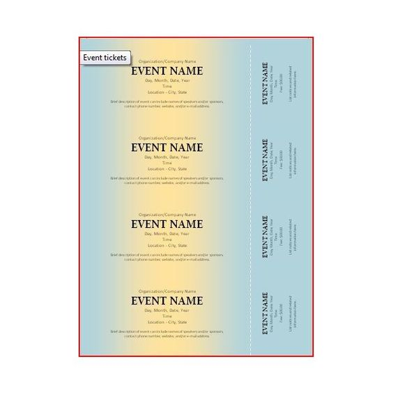 Microsoft Word Event Ticket Template 5+ free storyboard templates - Microsoft Word Event Ticket Template