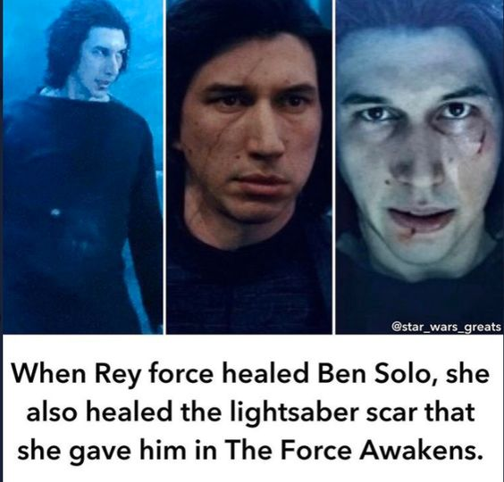 "You cannot tell me that she felt ""Bad"" for him that why she healed him. Our girl wanted to have her whole babe back. #Reylo #Bensolo #Reysoloskywalker #TRoSspoilers"