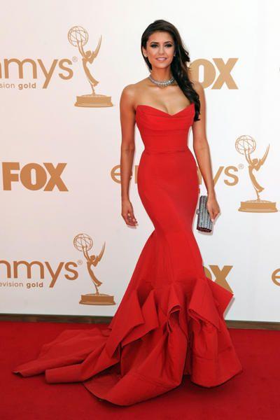 Nina Dobrev in Donna Karan at the Emmy's 2011