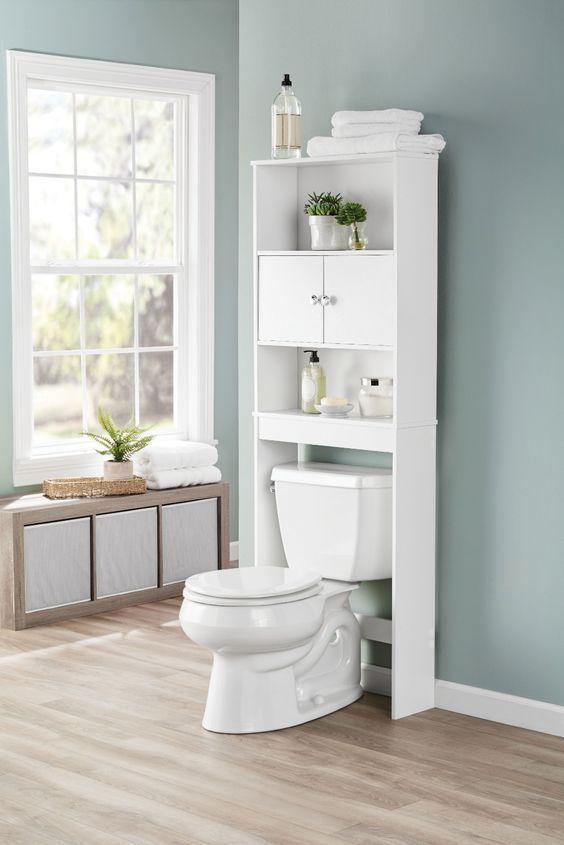 43 Stunning Over The Toilet Storage Ideas Designs For 2020 White Bathroom Storage Toilet Shelves Over Toilet Storage
