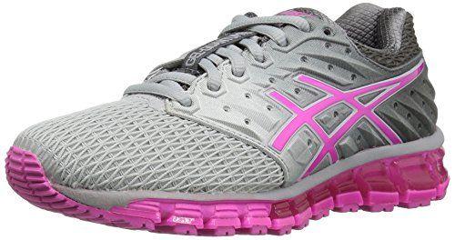 Asics Women S Gel Quantum 180 2 Running Shoe Midgrey Pink Glow