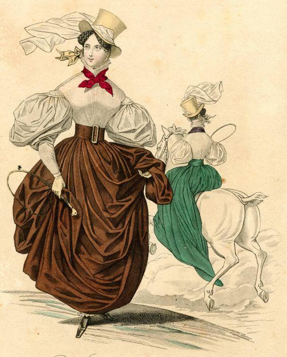 1832, zwei Reitensembles