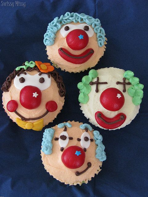 Clown Cup Cakes
