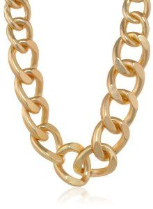 """Oversized Gold-Plated Link Necklace, 19.5"""""""