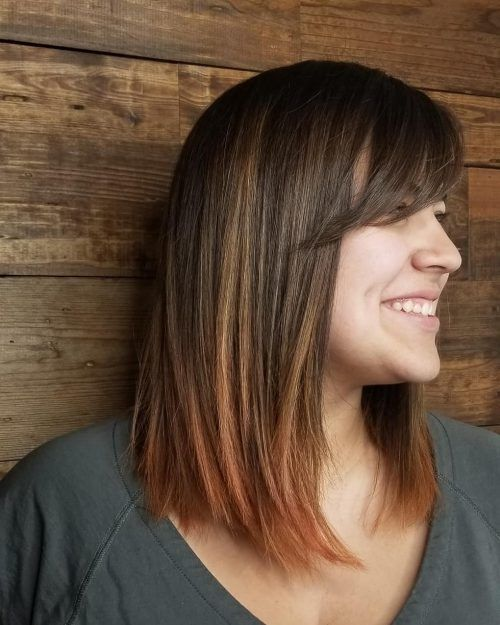 46 Cute Bob Haircuts With Bangs To Copy In 2020 Long Bob Haircut With Bangs Bob Haircut With Bangs Long Bob Haircuts