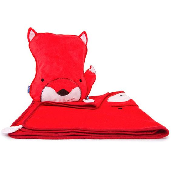 Manta y almohada de viaje Zorro rojo - Trunki