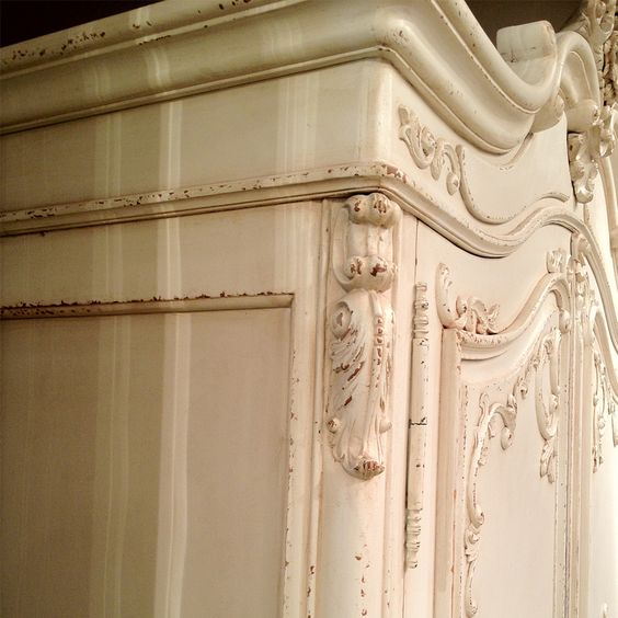 NEW! Delphine Distressed Shabby Chic Armoire (Image 4)