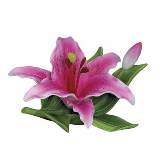 Andrea by Sadek Small Lilly Pink Porcelain Flower |Pinned from PinTo for iPad|
