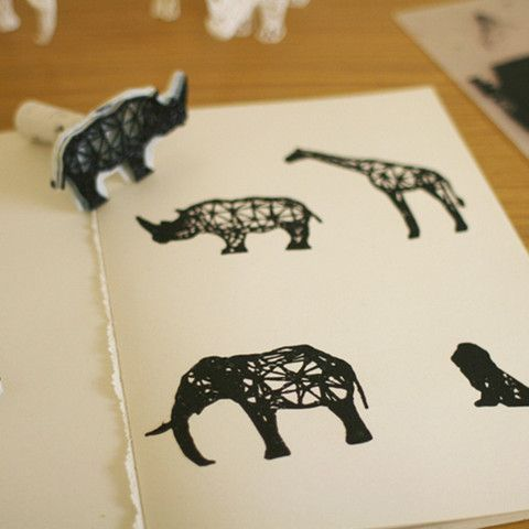 3D Digital Safari Stamps, XYZWorkshop