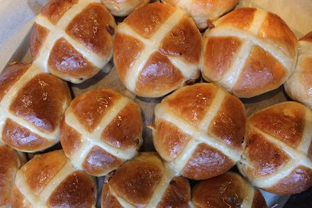 Delicious recipe for Hot Cross Buns on the Roundhouse blog http://www.roundhousedesign.com