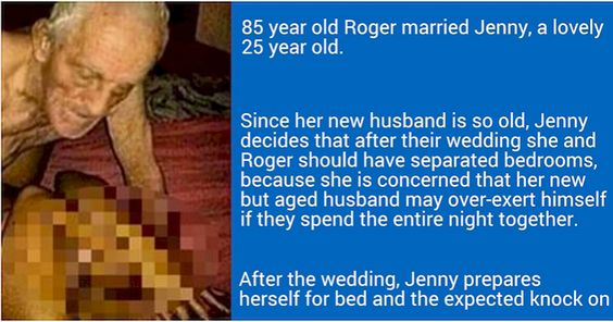 25-Year-Old Married An 85-Year-Old And Got A First Night Shock
