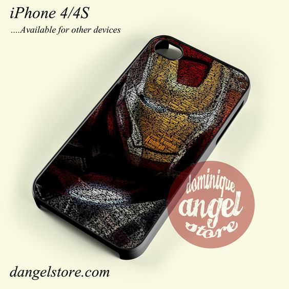 Typography Ironman Phone case for iPhone 4/4s and another iPhone devices