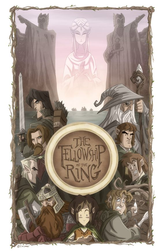 The Fellowship of the Ring  by *OtisFrampton