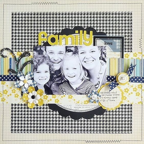 #papercraft #scrapbook #layout by Kerri Smith: