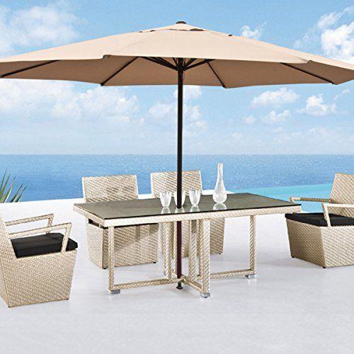 Large Patio Umbrella 13 Ft Feet Beige Tent Deck Gazebo Sun Shade