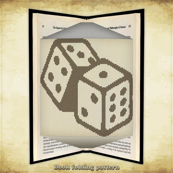 Book folding pattern Dice for 376 folds - ID0014395