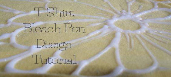 DIY bleach pen t shirt tutorial 9