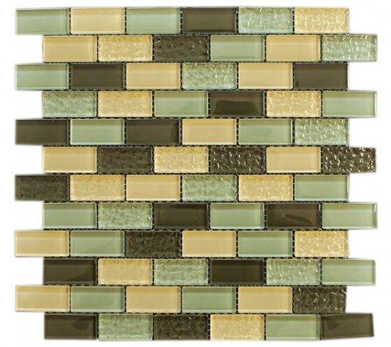 Green Blend Glass Mosaic Tiles 1x2 Green Yellow Glass Tile Yellow Glass Tiles Mosaic Tiles For Sale Mosaic Glass