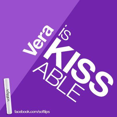Vera is kissable. #softlips
