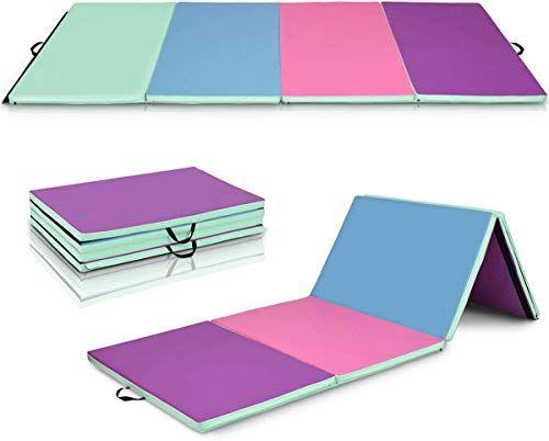 New Giantex 4 X8 X2 Gymnastics Mat Folding Anti Tear Gymnastics Panel Mats W Carrying Handles And Gymnastics Mats For Home Gymnastics At Home Gymnastics Mats