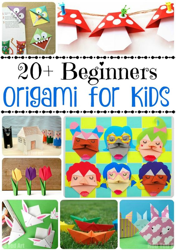 Easy Origami For Kids - if you are looking for some fun and easy beginners origami projects for kids, take a look at these fabulous ideas: