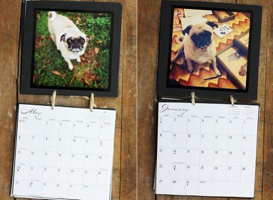 Hacer yo misma el calendario en cartulina, a mano!!