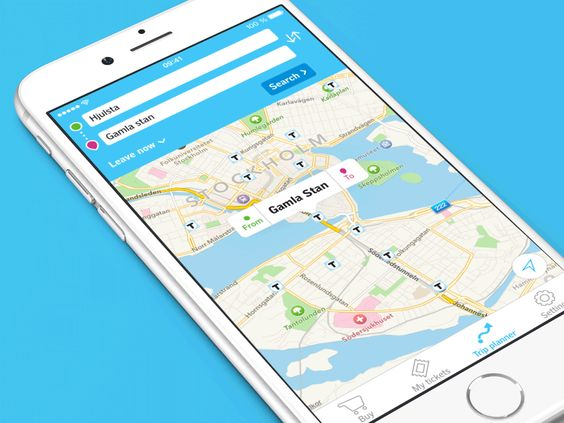 The SL-tickets app is developed by Klarna for SL, and I'm fortunate enough to help Klarna with UX and UI design for the new trip planner functionality.  The visual style is based upon SL's brand gu...
