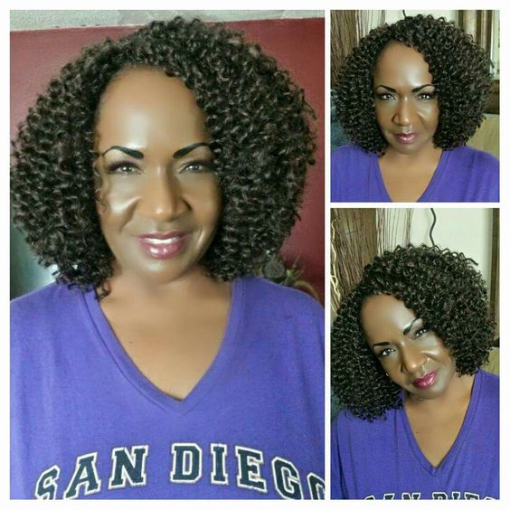 Crochet Braids Model Model Glance Braid - Bohemian Curl #4. San Diego ...