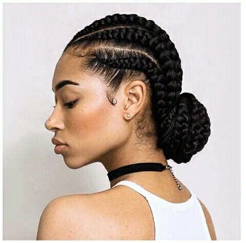 Cornrows Low Bun Cornrow Hairstyles Natural Hair Styles Braided Hairstyles