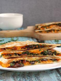 Sweet Potato And Kale Quesadillas | YummyAddiction.com