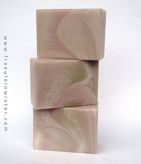 Zigzag Cosmic Wave   In the Pot Swirl   Handmade soap by Fraeulein Winter