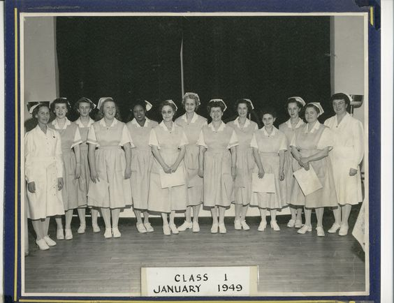 Grand Rapids Junior College's graduation for the practical nursing program in January 1949.