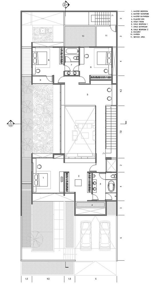 Gallery Of Tan Residence Chrystalline Artchitect 19 House Plans Bungalow House Design Floor Plans
