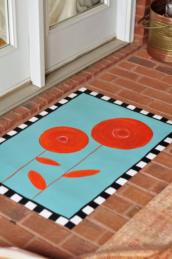 Floor Cloth My Style Pinterest Floors Poppies And