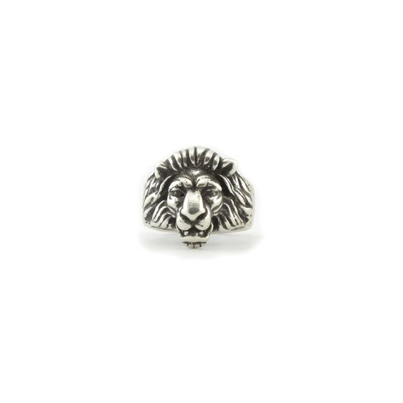 Silver Leo the Lion Ring ($30) ❤ liked on Polyvore featuring jewelry, rings, silver jewelry, lion jewelry, silver jewellery, silver rings and silver lion ring
