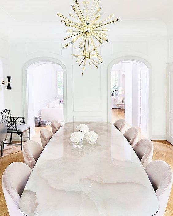 Oval Carrara Marble Pedestal Dining Table 1970s In The Style Of