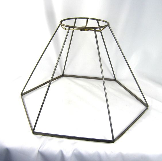 Lamp Shade Wire Frame Hex Medium Size for Table or Floor Lamp. $17.00, via Etsy. Kitchen sink?