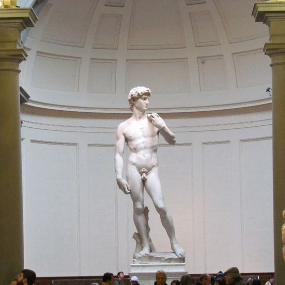 Here it can be seen several master pieces of sculpture such as the original David by Michel Angel, and several of his draft artworks in stone.