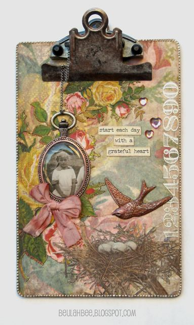 Beulah Bee: Mini Clipboard Grateful:
