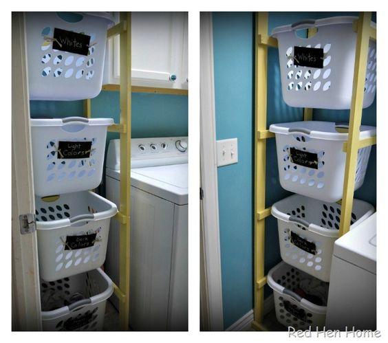 recycle bin ideas garage - idea for recycling bins in garage by Red Hen Home