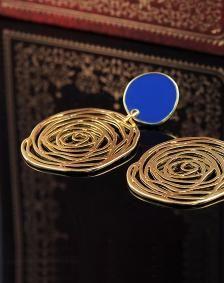 18K Gold Plated Rose Pattern Eardrops