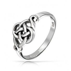 Irish Celtic Love Knot Ring Sterling Silver
