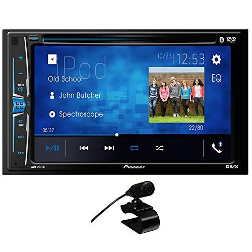 Pioneer Avh 210ex In Dash 2 Din 6 2 Touchscreen Dvd Receiver With Bluetooth Audio Amplifier Cool Car Accessories Touch Screen