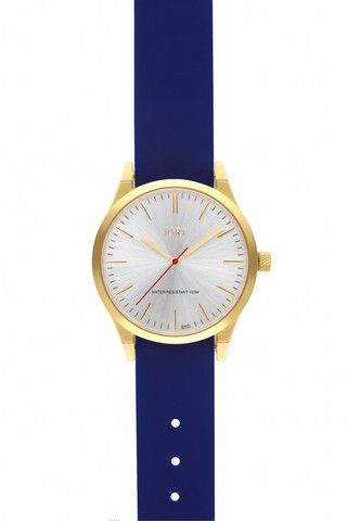 Brushed Silver Face with Blueprint Silicone Watch Band #jdrt #silver #watches #bluesilicone